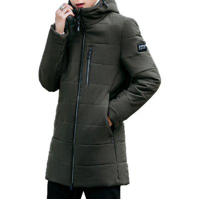 2018 Mens Fashion Trend Zipper Long Cotton ClothesMens Jackets &amp; Coats<br>2018 Mens Fashion Trend Zipper Long Cotton Clothes<br><br>Clothes Type: Padded<br>Materials: Polyester<br>Package Content: 1 X Coat<br>Package size (L x W x H): 1.00 x 1.00 x 1.00 cm / 0.39 x 0.39 x 0.39 inches<br>Package weight: 0.5000 kg<br>Size1: M,L,XL,4XL,2XL,3XL