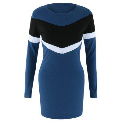 Womens Round Neck Slim New Long-Sleeved DressMini Dresses<br>Womens Round Neck Slim New Long-Sleeved Dress<br><br>Dresses Length: Mini<br>Elasticity: Micro-elastic<br>Fabric Type: Worsted<br>Material: Polyester, Cotton Blend<br>Neckline: Round Collar<br>Package Contents: 1 x dress<br>Pattern Type: Others<br>Season: Spring, Summer, Fall, Winter<br>Silhouette: Straight<br>Sleeve Length: Long Sleeves<br>Style: Fashion<br>Weight: 0.2500kg<br>With Belt: No
