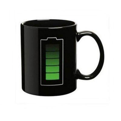 Magic Mug Color Changing Cups Porcelain Battery Coffee Heat Hot Cold Temperature Sensitive Reactive Cup