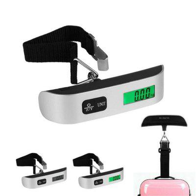 Portable Digital Luggage 50kg Capacity  Hand Held Green Backlight LCD Electronic Scale