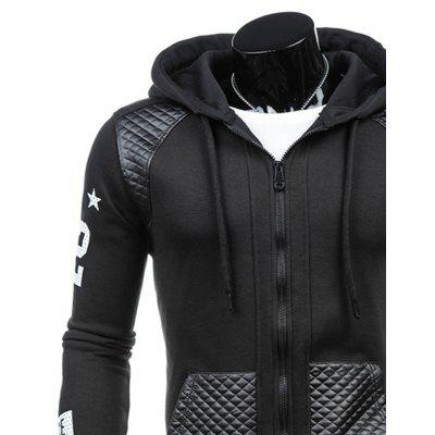 Letter Printing Men Fashion Splicing Leisure Hoodie CoatMens Hoodies &amp; Sweatshirts<br>Letter Printing Men Fashion Splicing Leisure Hoodie Coat<br><br>Fabric Type: Broadcloth<br>Material: Cotton, Polyester<br>Package Contents: 1 X  Hoodie<br>Shirt Length: Long<br>Sleeve Length: Full<br>Style: Casual<br>Weight: 0.3500kg