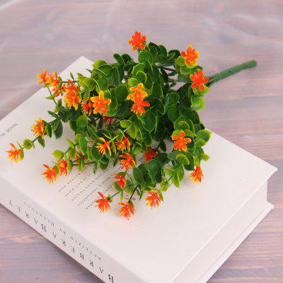 4 pcs artificial green plants grass fake floral plastic flowers for