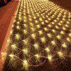 BRELONG 96LED Network lights 1.5m x 1.5m Outdoor waterproof star light string 220V EU - WARM WHITE