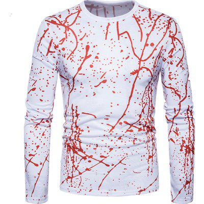 New Abstract Personality 3D Twigs T - Shirt Long Sleeved Round T-Shirt