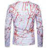 New Abstract Personality 3D Twigs T - Shirt Long Sleeved Round T-Shirt - WHITE