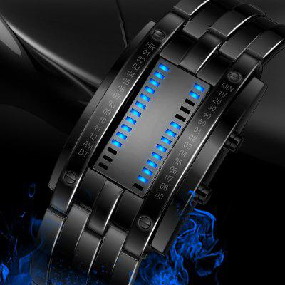 REEBONZ Water Resistant Men Date Binary Digital LED Bracelet Watch Rectangle Dial Sports Couple WatchMens Watches<br>REEBONZ Water Resistant Men Date Binary Digital LED Bracelet Watch Rectangle Dial Sports Couple Watch<br><br>Available Color: Silver,Black<br>Band material: Stainless Steel<br>Band size: 23 x 2.4cm<br>Case material: Stainless Steel<br>Clasp type: Folding clasp with safety<br>Dial size: 3 x 5.5 x 0.9cm<br>Display type: Digital<br>Movement type: Digital watch<br>Package Contents: 1 x Watch<br>Package size (L x W x H): 20.00 x 5.00 x 2.50 cm / 7.87 x 1.97 x 0.98 inches<br>Package weight: 0.1500 kg<br>Product size (L x W x H): 23.00 x 3.00 x 0.90 cm / 9.06 x 1.18 x 0.35 inches<br>Product weight: 0.1320 kg<br>Shape of the dial: Rectangle<br>Special features: Luminous, Date<br>Watch mirror: Mineral glass<br>Watch style: LED, Fashion, Business, Cool, Military, Trends in outdoor sports<br>Watches categories: Men<br>Water resistance: 50 meters