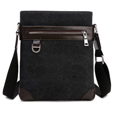 Shoulder Bag Messenger Bag Splicing Vertical Britânico Men'S Backpack