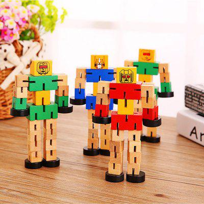 Wooden Transformable Robots Funny and Creative Educational Toys for Girls and Boys Kids Brain Teaser PuzzleOther Educational Toys<br>Wooden Transformable Robots Funny and Creative Educational Toys for Girls and Boys Kids Brain Teaser Puzzle<br><br>Age: Adults,5-7 Years,3~5 Years,7 Years+<br>Applicable gender: Boys<br>Design Style: Cartoon<br>Features: Educational<br>Gender: Unisex<br>Material: Wood<br>Package Contents: 1 x Wooden Transformable Robot<br>Package size (L x W x H): 15.00 x 7.00 x 3.00 cm / 5.91 x 2.76 x 1.18 inches<br>Package weight: 0.1300 kg<br>Small Parts: No<br>Type: Intelligence toys<br>Washing: No