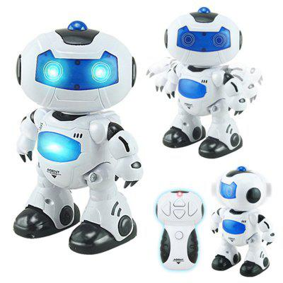 Electric Intelligent Cute Remote Controlled Musical Dancing Robot Walk Lightening ToyRC Robot<br>Electric Intelligent Cute Remote Controlled Musical Dancing Robot Walk Lightening Toy<br><br>Age: Above 3 years old<br>Features: IR Remote Control<br>Material: ABS, Electronic Components<br>Package Contents: 1 x Robot, 1 x Remote Control<br>Package size (L x W x H): 28.00 x 23.00 x 10.00 cm / 11.02 x 9.06 x 3.94 inches<br>Package weight: 0.8000 kg<br>Transmitter Power: 2 x 1.5V AA battery(not included)