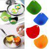 1pcs Silicone Nontoxic Egg Poacher Tray Fried Cooker Boiler Food-safe Kitchen Egg Tools - BLUE