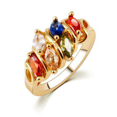 Lady Vintage Color Crystal Fashion Ring