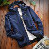 Men's Casual Jacket Chic Windproof All Match Outdoor Jacket - CERULEAN