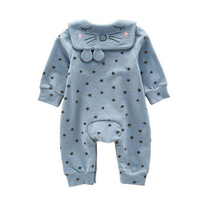 The Newborn Is Full of Star Print Jumpsuitsbaby rompers<br>The Newborn Is Full of Star Print Jumpsuits<br><br>Closure Type: Pullover<br>Collar: Sailor Collar<br>Gender: Unisex<br>Material: Cotton, Cotton Blend<br>Package Contents: 1 x Jumpsuits<br>Season: Spring<br>Sleeve Length: Full<br>Thickness: General<br>Weight: 0.3000kg