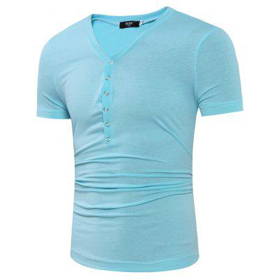 Mens Fashion Special Collar Fashion Casual T-ShirtMens T-shirts<br>Mens Fashion Special Collar Fashion Casual T-Shirt<br><br>Collar: V-Neck<br>Material: Cotton, Cotton Blends<br>Package Contents: 1x T-shirts<br>Pattern Type: Solid<br>Sleeve Length: Short Sleeves<br>Style: Fashion<br>T-shirts: None<br>Weight: 0.2000kg