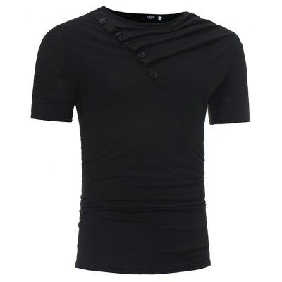 Mens Fashion Short-Sleeved Heap Collar Leisure T-ShirtMens T-shirts<br>Mens Fashion Short-Sleeved Heap Collar Leisure T-Shirt<br><br>Collar: Cowl Neck<br>Material: Cotton, Cotton Blends<br>Package Contents: 1x T-shirts<br>Pattern Type: Solid<br>Sleeve Length: Short Sleeves<br>Style: Casual<br>T-shirts: None<br>Weight: 0.2200kg