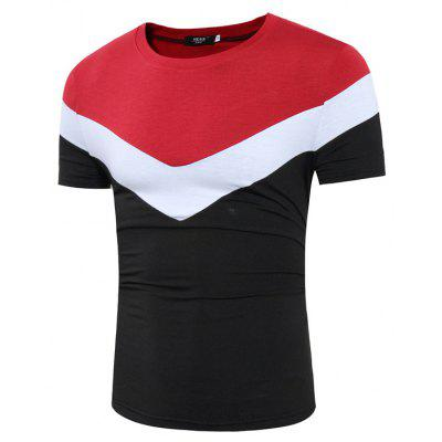 Mens Fashion Short-Sleeved Splicing Design Casual T-ShirtMens T-shirts<br>Mens Fashion Short-Sleeved Splicing Design Casual T-Shirt<br><br>Collar: Round Neck<br>Material: Cotton, Cotton Blends<br>Package Contents: 1x T-shirts<br>Pattern Type: Patchwork<br>Sleeve Length: Short Sleeves<br>Style: Fashion<br>T-shirts: None<br>Weight: 0.2000kg