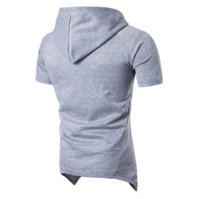 Simple and Stylish Mens Fashion Cut Double Zipper Hood Short Sleeve HoodieMens Hoodies &amp; Sweatshirts<br>Simple and Stylish Mens Fashion Cut Double Zipper Hood Short Sleeve Hoodie<br><br>Hoodies: None<br>Material: Cotton, Cotton Blends<br>Package Contents: 1x Hoodies<br>Shirt Length: Regular<br>Sleeve Length: Short<br>Style: Fashion<br>Weight: 0.2500kg