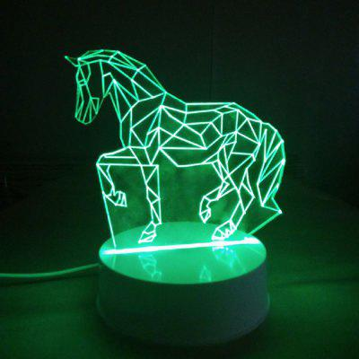 Colors Changing Decorative 3D LED Night Light Horse Animals Lamp for Kids Nursery Room