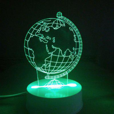 3D Optical Illusion Sculpture Lights In 7 Colors 3D Remote Earth Shape Globe World Map Table Lamp