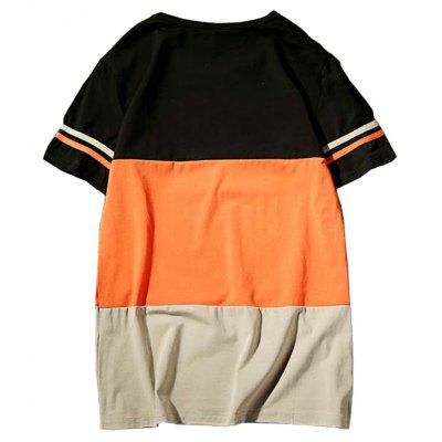 Fashion Striped Stiching Short Sleeve T ShirtMens T-shirts<br>Fashion Striped Stiching Short Sleeve T Shirt<br><br>Collar: Round Neck<br>Embellishment: Patch Designs<br>Fabric Type: Broadcloth<br>Material: Cotton, Spandex<br>Package Contents: 1 x T-Shirt<br>Pattern Type: Striped<br>Sleeve Length: Short Sleeves<br>Style: Fashion<br>Weight: 0.2100kg