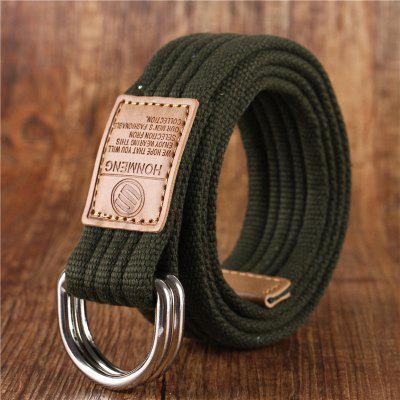Double loop belt and outdoor leisure cloth belt for young students all-match Fashion Jeans Belt
