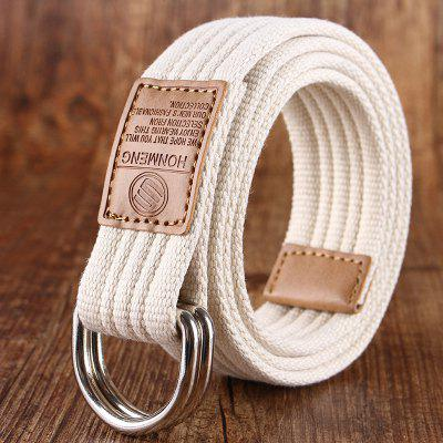 Double loop canvas belt and outdoor leisure cloth belt for young students all-match Fashion Jeans Belt