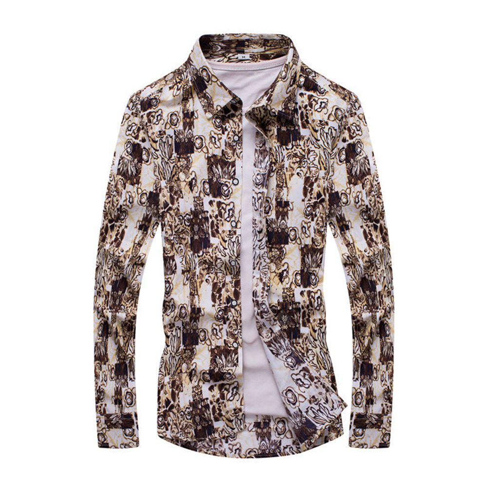 Mens Stylish Casual Button-Down Long Sleeve Cotton Shirts