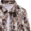 Mens Stylish Casual Button-Down Long Sleeve Cotton Shirts - FLORAL
