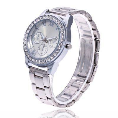 ZhouLianFa New Outdoor Luxury Diamond Imitation Three-Band Quartz Watch with Gift BoxWomens Watches<br>ZhouLianFa New Outdoor Luxury Diamond Imitation Three-Band Quartz Watch with Gift Box<br><br>Band material: Stainless Steel<br>Band size: 23 x 2cm<br>Brand: ZhouLianFa<br>Case material: Alloy<br>Clasp type: Folding clasp with safety<br>Dial size: 4 x 4 x 1cm<br>Display type: Analog<br>Movement type: Quartz watch<br>Package Contents: 1 x Watch , 1 x Box<br>Package size (L x W x H): 12.00 x 8.00 x 9.00 cm / 4.72 x 3.15 x 3.54 inches<br>Package weight: 0.1300 kg<br>Product size (L x W x H): 23.00 x 4.00 x 1.00 cm / 9.06 x 1.57 x 0.39 inches<br>Product weight: 0.0700 kg<br>Shape of the dial: Round<br>Watch mirror: Mineral glass<br>Watch style: Business, Casual, Fashion, Retro, Outdoor Sports, Childlike, Classic<br>Watches categories: Women,Female table<br>Water resistance: No