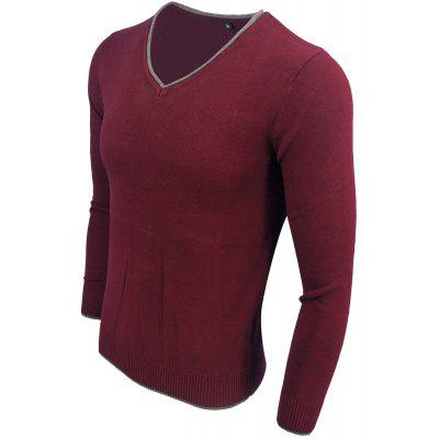 Mens Spring and Autumn Long-Sleeved Solid Color V-Neck  Comfortable SweaterMens Sweaters &amp; Cardigans<br>Mens Spring and Autumn Long-Sleeved Solid Color V-Neck  Comfortable Sweater<br><br>Collar: V-Neck<br>Hooded: No<br>Material: Acrylic<br>Package Contents: 1XSweater<br>Package size (L x W x H): 1.00 x 1.00 x 1.00 cm / 0.39 x 0.39 x 0.39 inches<br>Package weight: 0.3000 kg<br>Size1: M,L,XL,2XL,3XL<br>Sleeve Length: Full<br>Style: Casual<br>Technics: Computer Knitted<br>Thickness: Thin<br>Type: Pullovers