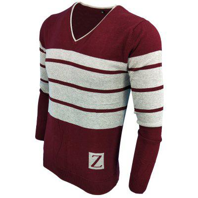 Spring and Autumn Fashion Casual  Long-Sleeved V-Neck Knit SweaterMens Sweaters &amp; Cardigans<br>Spring and Autumn Fashion Casual  Long-Sleeved V-Neck Knit Sweater<br><br>Collar: V-Neck<br>Hooded: No<br>Material: Acrylic<br>Package Contents: 1XSweater<br>Package size (L x W x H): 1.00 x 1.00 x 1.00 cm / 0.39 x 0.39 x 0.39 inches<br>Package weight: 0.3000 kg<br>Size1: M,L,XL,2XL,3XL<br>Sleeve Length: Full<br>Style: Casual<br>Technics: Computer Knitted<br>Thickness: Standard<br>Type: Pullovers