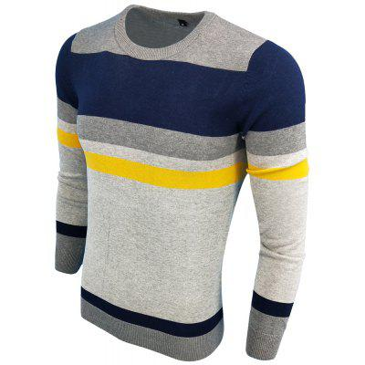Mens Spring and Autumn Fashion Casual Long-Sleeved Self-Cultivation Hit  Round Neck Knit SweaterMens Sweaters &amp; Cardigans<br>Mens Spring and Autumn Fashion Casual Long-Sleeved Self-Cultivation Hit  Round Neck Knit Sweater<br><br>Collar: Round Neck<br>Hooded: No<br>Material: Acrylic<br>Package Contents: 1XSweater<br>Package size (L x W x H): 1.00 x 1.00 x 1.00 cm / 0.39 x 0.39 x 0.39 inches<br>Package weight: 0.3000 kg<br>Size1: M,L,XL,2XL,3XL<br>Sleeve Length: Full<br>Sleeve Style: Regular<br>Style: Casual<br>Technics: Computer Knitted<br>Thickness: Standard<br>Type: Pullovers