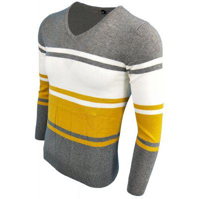 Spring and Autumn Long-Sleeved Hit Color Fashion  Knit SweaterMens Sweaters &amp; Cardigans<br>Spring and Autumn Long-Sleeved Hit Color Fashion  Knit Sweater<br><br>Collar: V-Neck<br>Hooded: No<br>Material: Acrylic<br>Package Contents: 1XPullover<br>Package size (L x W x H): 1.00 x 1.00 x 1.00 cm / 0.39 x 0.39 x 0.39 inches<br>Package weight: 0.3000 kg<br>Size1: M,L,XL,2XL,3XL<br>Sleeve Length: Full<br>Style: Fashion<br>Technics: Computer Knitted<br>Type: Pullovers