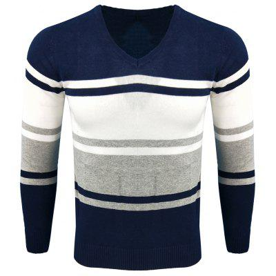Spring and Autumn Long-Sleeved Hit Color Fashion  Knit Sweater