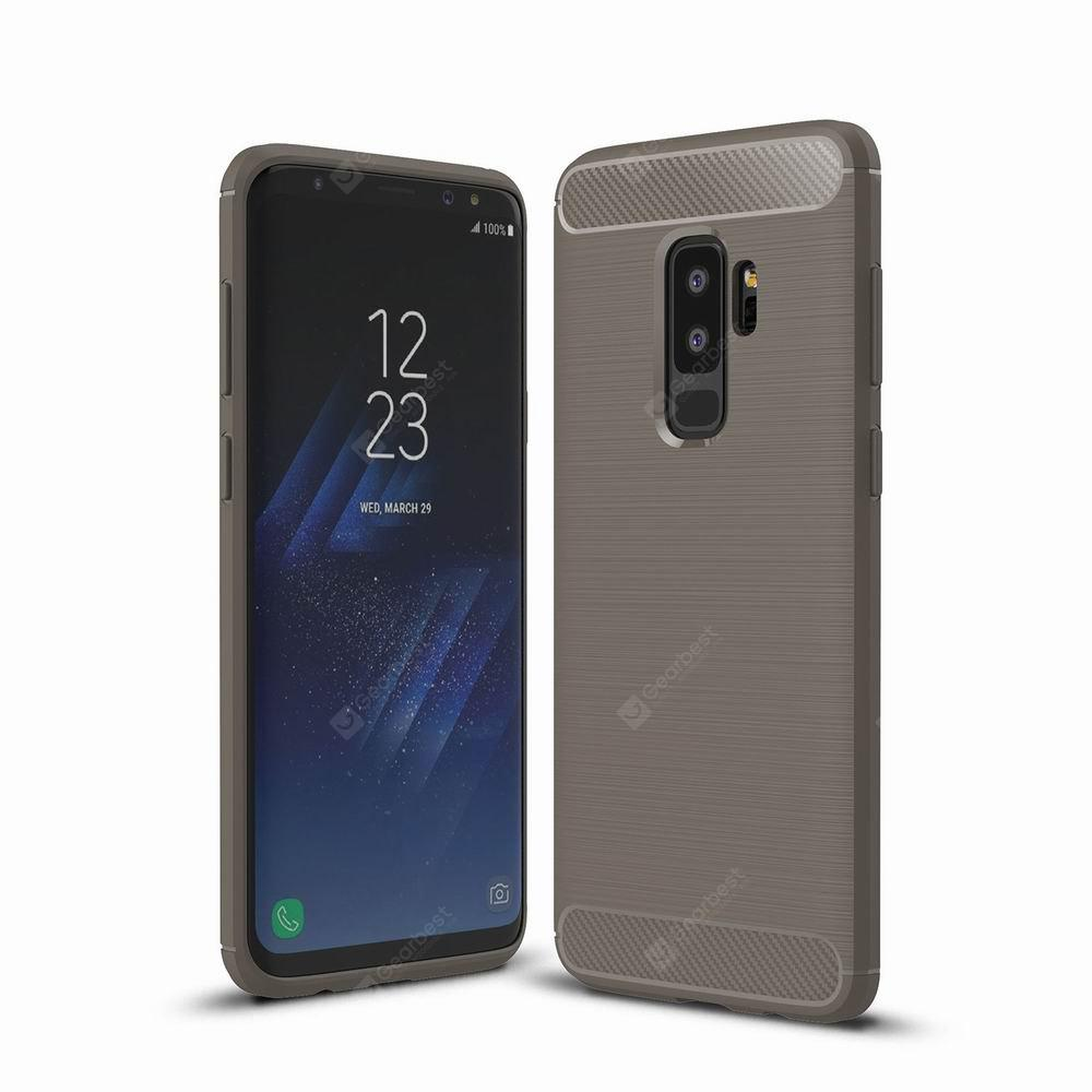 For Samsung Galaxy S9 Plus Case Cover Carbon Fiber Luxury Silicone Soft Texture Back Phone Cases