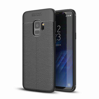 Case Cover Luxury Silicone TPU Leather Texture For Samsung Galaxy S9 Phone Case