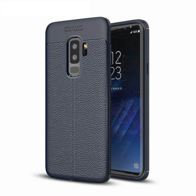 Case Cover Luxury Silicone TPU Leather Texture For Samsung Galaxy S9 Plus Phone Case