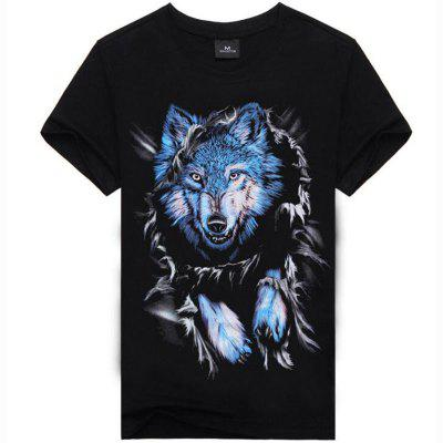 Daily Club Casual Street Chic Punk Gothic Print Round Collar Short Sleeve Polyester T-shirt