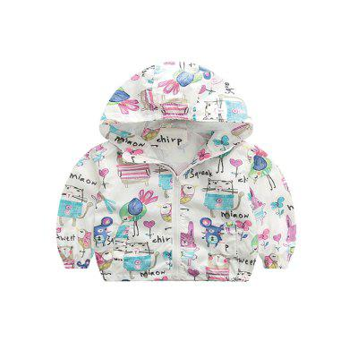 Children'S New Cartoon Hooded Long Sleeve Coat Air Conditioning Clothes