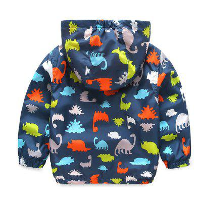 Children'S New Cartoon Dinosaur Design Hooded Long Sleeve Coat 660v ui 10a ith 8 terminals rotary cam universal changeover combination switch