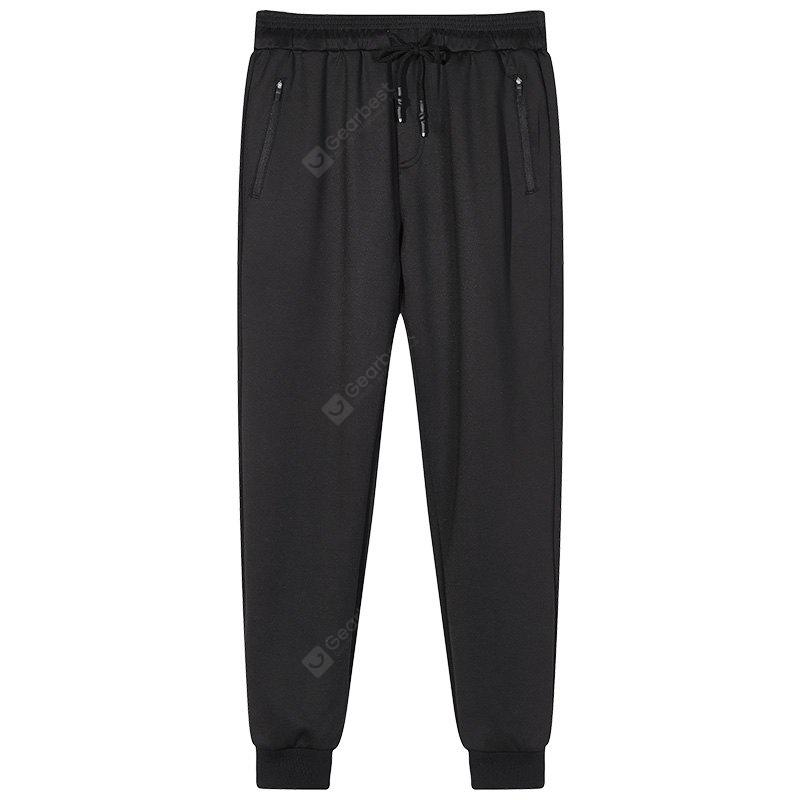 Male Black Beam Foot Sports and Leisure Jogging Pants
