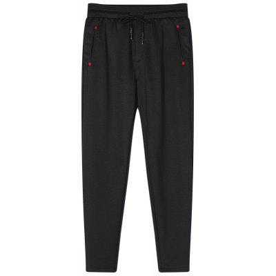 Male Solid Color Straight Sports and Leisure Jogging Pants