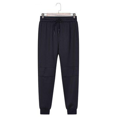 Male Solid Color Beam Foot Sports and Leisure Pants