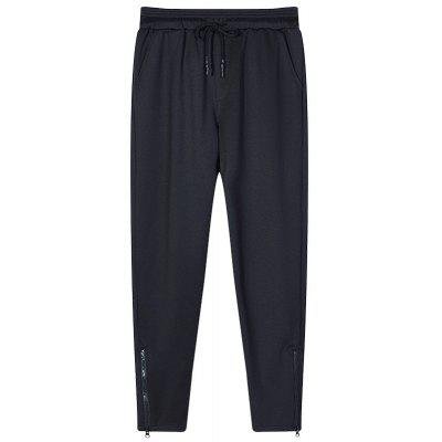 Men's Color Beam Foot Zipper Sports and Leisure Pants