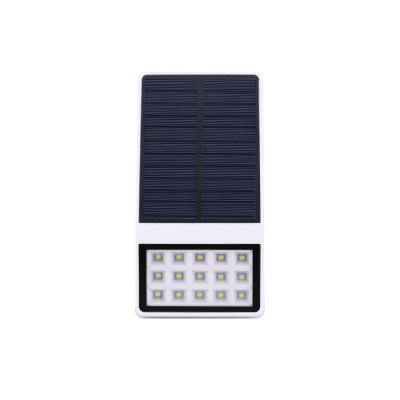 1PCS New Outdoor Waterproof Solar Courtyard Lamp 15LED Solar Light Controlled Wall Lamp