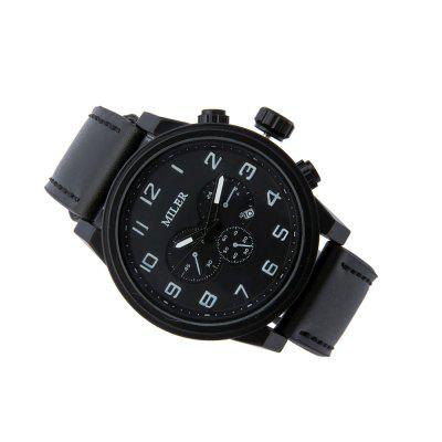 Super-Thick Belt Leisure Sports WatchMens Watches<br>Super-Thick Belt Leisure Sports Watch<br><br>Band material: Leather<br>Band size: 25cm<br>Case material: Alloy<br>Clasp type: Pin buckle<br>Dial size: 4.8cm<br>Display type: Analog<br>Movement type: Digital watch<br>Package Contents: 1 x Watch<br>Package size (L x W x H): 25.00 x 6.00 x 6.00 cm / 9.84 x 2.36 x 2.36 inches<br>Package weight: 0.0650 kg<br>Product size (L x W x H): 25.00 x 4.80 x 1.00 cm / 9.84 x 1.89 x 0.39 inches<br>Product weight: 0.0610 kg<br>Shape of the dial: Round<br>Special features: Day<br>Watch mirror: Resin glass<br>Watch style: Retro, Fashion, Casual<br>Watches categories: Men