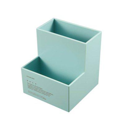 European-Style Simple Double Grid Office Desktop Small Penholder Cosmetic Collection Box