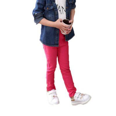 QIQISHUANGZI The Red Leggings of Girls and Girls in A Comfortable Middle School Leggings