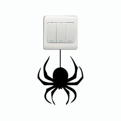 DSU Creative Spider Silhouette Light Switch Sticker Funny Cartoon Animal Vinyl Wall DecorWall Stickers<br>DSU Creative Spider Silhouette Light Switch Sticker Funny Cartoon Animal Vinyl Wall Decor<br><br>Art Style: Plane Wall Stickers, Toilet Stickers<br>Color Scheme: Black<br>Effect Size (L x W): 13 x 10.7 cm<br>Function: Decorative Wall Sticker<br>Layout Size (L x W): 13 x 10.7 cm<br>Material: Vinyl(PVC)<br>Package Contents: 1 x Wall Sticker<br>Package size (L x W x H): 15.00 x 13.00 x 1.00 cm / 5.91 x 5.12 x 0.39 inches<br>Package weight: 0.0300 kg<br>Product size (L x W x H): 13.00 x 10.70 x 0.01 cm / 5.12 x 4.21 x 0 inches<br>Product weight: 0.0200 kg<br>Quantity: 1<br>Sizes: Others<br>Subjects: Fashion,Vintage,Others,Letter,Cute,Cartoon,Music,Famous,Romance<br>Suitable Space: Living Room,Hotel,Kids Room,Pathway,Kids Room,Boys Room,Girls Room,Game Room<br>Type: Plane Wall Sticker