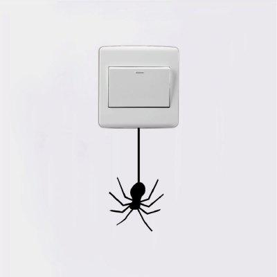 DSU Spider Dangling From Light Switch Sticker Funny Cartoon Animal Vinyl Wall DecorWall Stickers<br>DSU Spider Dangling From Light Switch Sticker Funny Cartoon Animal Vinyl Wall Decor<br><br>Art Style: Plane Wall Stickers, Toilet Stickers<br>Color Scheme: Black<br>Effect Size (L x W): 10.2 x 5.3 cm<br>Function: Decorative Wall Sticker<br>Layout Size (L x W): 10.2 x 5.3 cm<br>Material: Vinyl(PVC)<br>Package Contents: 1 x Wall Sticker<br>Package size (L x W x H): 12.00 x 7.00 x 1.00 cm / 4.72 x 2.76 x 0.39 inches<br>Package weight: 0.0200 kg<br>Product size (L x W x H): 10.20 x 5.30 x 0.01 cm / 4.02 x 2.09 x 0 inches<br>Product weight: 0.0100 kg<br>Quantity: 1<br>Sizes: Others<br>Subjects: Fashion,Vintage,Others,Letter,Cute,Cartoon,Music,Famous,Romance<br>Suitable Space: Living Room,Hotel,Kids Room,Pathway,Kids Room,Boys Room,Girls Room,Game Room<br>Type: Plane Wall Sticker
